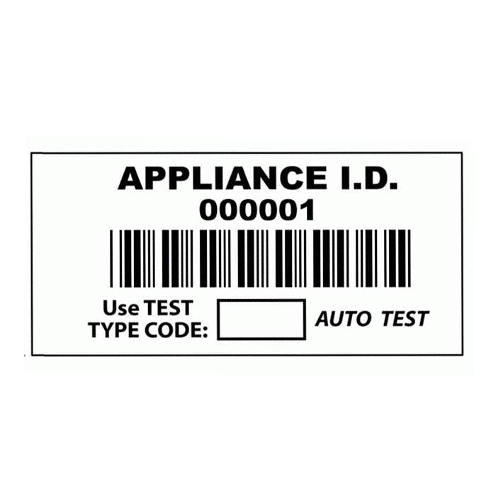 Barcode Appliance ID Labels (x1000)