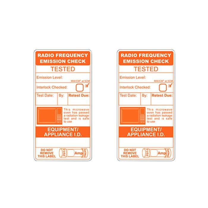 Microwave Emission Test Labels (x150)