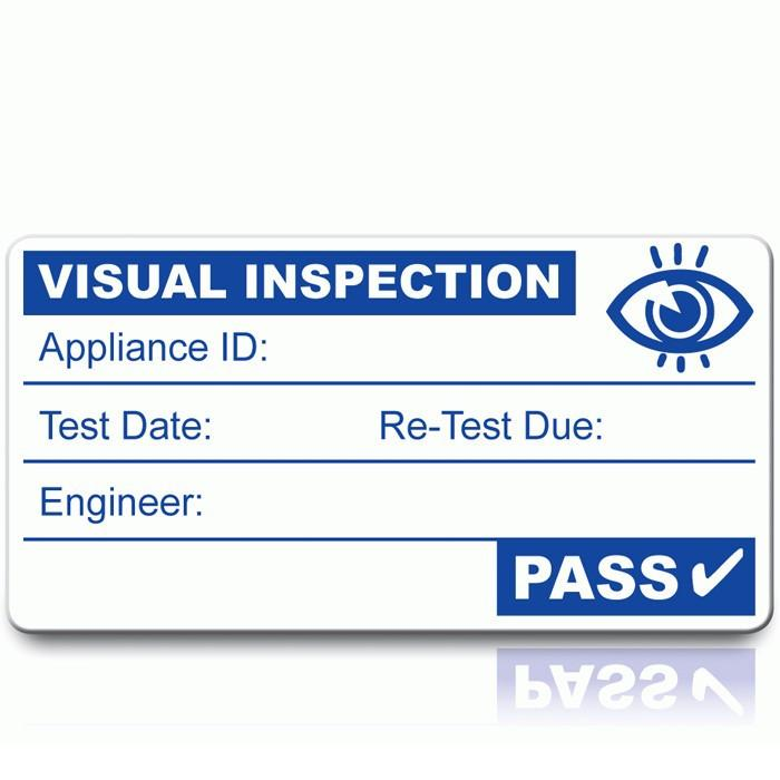 Visual Inspection Labels (x500)