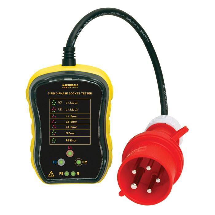 Martindale PC105 16A 3-Phase Socket Tester